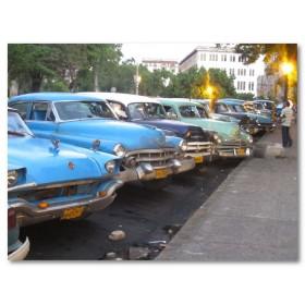 Αφίσα (αυτοκίνητα, Κούβα, κτίρια)